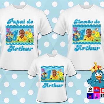 Kit Camisas Galinha Pintadinha