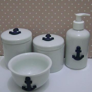 Kit Higiene Bebê Porcelana Náutico