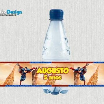 Rótulo para água Super Man