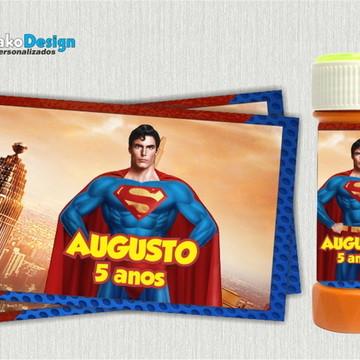 Adesivo bolha de sabão Super Man