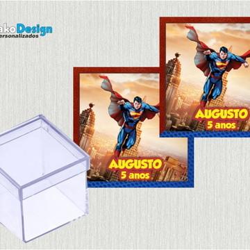 Adesivo Caixa acrílico Super Man