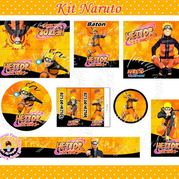 Kit festa impresso Naruto