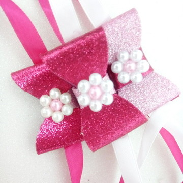Gargantilha Pet - eva rosa pérola