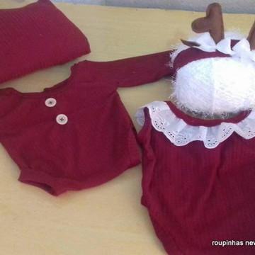 kit de roupinhas natalinas newborn