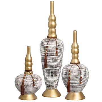 Trio de Vasos Clássicos em Cerâmica