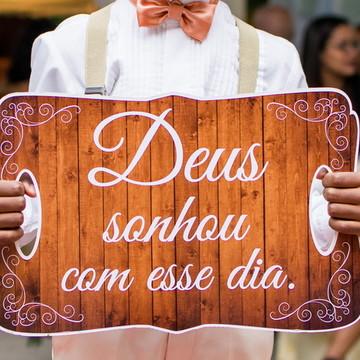 placa entrada da noiva