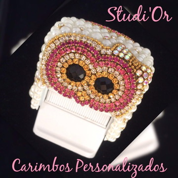 Carimbo Luxo Personalizado Corujinha