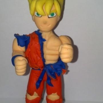 Goku super sayajin 2 topo de bolo