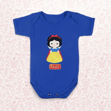 Body infantil Princesa BRANCA DE NEVE - Personalizado