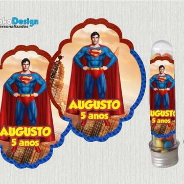 Adesivo para Tubete Super Man