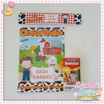 Kit Colorir Fazendinha Menino