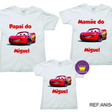 Kit 3 Camiseta Aniversario Carros Macqueen 01