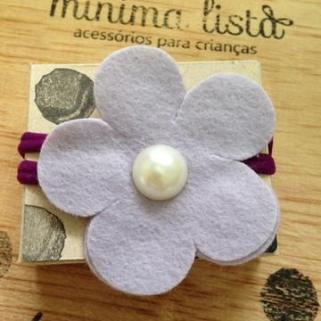 Faixa - Headband - flor de feltro - ROXA