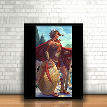 Quadro Themyscira / Mulher-Maravilha