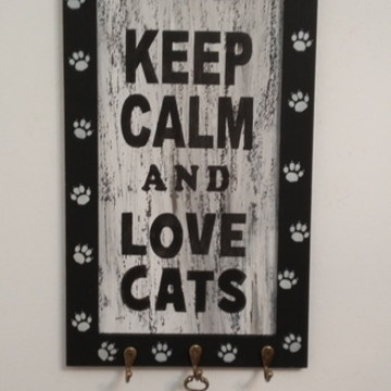 PORTA CHAVE LOVE CATS