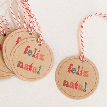 Tag Redonda Feliz Natal