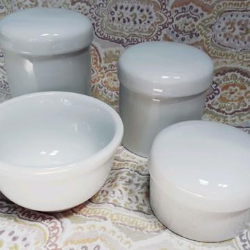 Kit Higiene Bebê Porcelana Branca