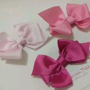 Kit laços em tons de rosa