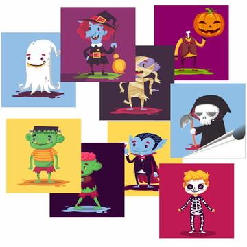 Azulejo Adesivo Kit Halloween