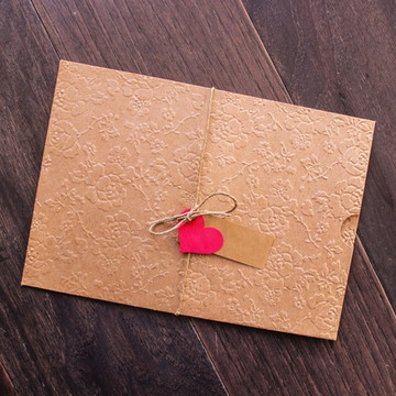 Envelope rústico convite de casamento KIT montar 15x21,5 cm