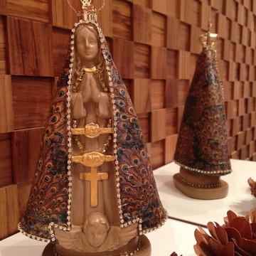 Imagem Nossa Senhora Aparecida -18cm-Coroa de metal