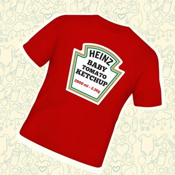 Camiseta Infantil Ketchup Heinz B573VM