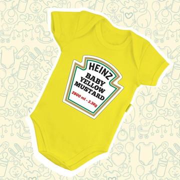 Body Infantil Bebê Heinz Mostarda B574AM
