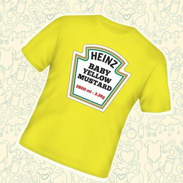 Camiseta Infantil Heinz Mostarda B574AM