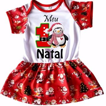 Body personalizado saia Natal