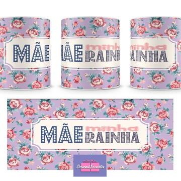 Caneca Mãe Minha Rainha (lilás) Personal Presentes