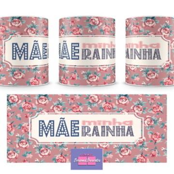 Caneca Mãe Minha Rainha (rosa) Personal Presentes