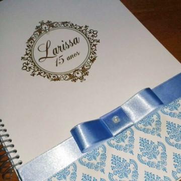 Caderno Assinatura - 15 anos - Azul e dourado