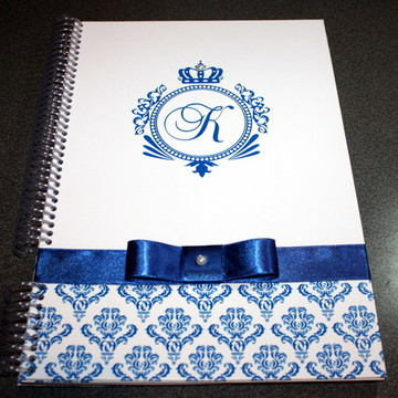 Caderno Assinatura - 15 anos - Azul