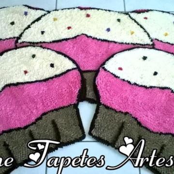 Cupcakes para decoração da cozinha tapete