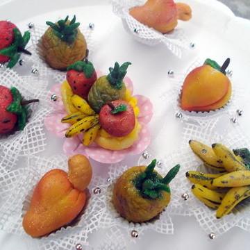 Doces gourmet finos modelados