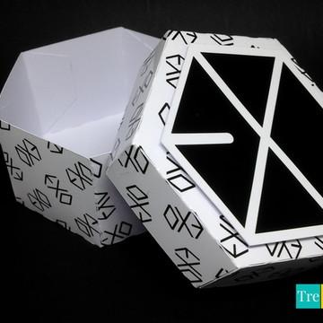 Caixinha Sextavada - EXO - Kpop