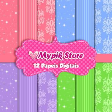 Kit Papel Digital Princesas Modelo 13