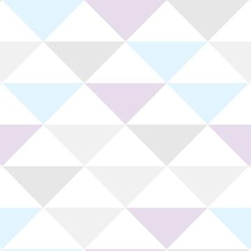 Papel de Parede Autocolante Geométrico Triângulo cor Suave