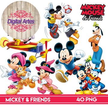 Kit Digital Mickey e Amigos