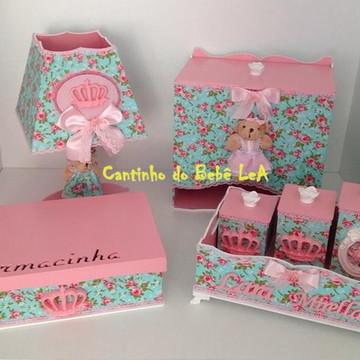 Kit higiene Mdf Floral