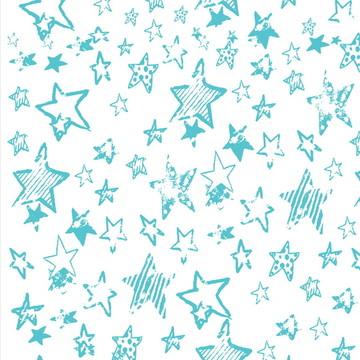 Papel De Parede Teen Estrelas Azuis