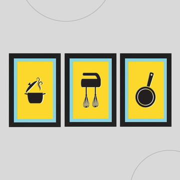 Quadros para cozinha 2 - Promoção e Não Paga Frete!