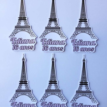 Aplique para tubetes - Paris