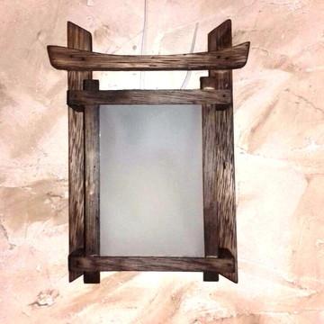 arandela luminária de parede oriental estilo portal