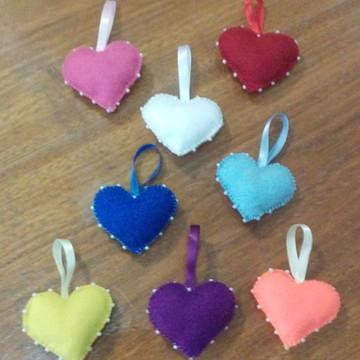 Coração colorido Sachê