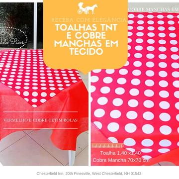 10 KITS DE TOALHA TNT + 10 COBRE TECIDO CETIM