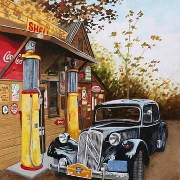 Quadro Decorativo Categoria Posto de Gasolina Modelo 1
