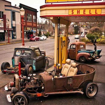 Quadro Decorativo Categoria Posto de Gasolina Modelo 14