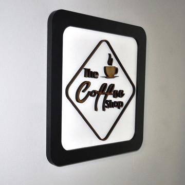 Quadro Artístico Em Alto Relevo The Coffe Shop