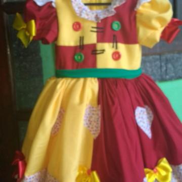 Vestido fantasia Emília infantil